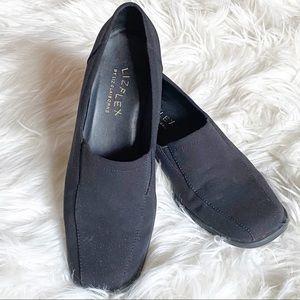 Liz Claiborne Flex Slip on Loafers Black Size 6.5